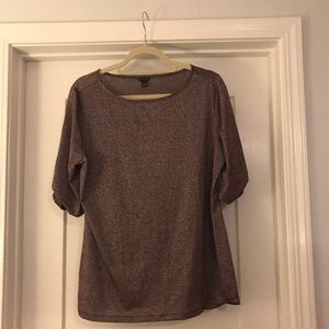 Ann Taylor shimmer- infused blouse, NWT